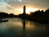 Dawn on the Spokane River Downtown