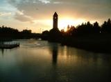 Dawn on the Spokane River Downtown