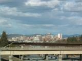 View of Spokane Entering Fr West I-90