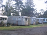 Vintage Trailers - Our small fleet of 1950's vintage trailers provide self-contained accommodation, including kitchenettes and showers.