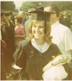 "Graduated from Pomona College in 1970 - The white arm band was our ""protest"" for change through peaceful means."