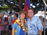 Grand Marshal 2007 and 2009 - I was honored to serve as the Grand Marshal for the Honolulu Pride Parade for my work on civil unions.<br /><br />Photographed with Senate Majority Leader Gary L. Hooser.
