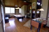 Bear Spring Cabin Game Room - Game room at the Bear Spring Cabin has a pool table and Tornado Foosball.