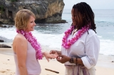 Vows of Commitment - Two beautiful women committed to spend their lives together in a beautiful ceremony on<br />Keoniloa Bay on Kauai, Hawaii