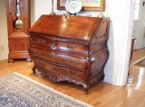 French Louis XV Bombe Slant Front Desk - Rare 18th Century French Louis XV Bombe Slant Front Desk