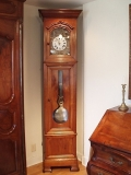 French Clock - French Louis Philippe Morbier Tall Case Gradfather's Clock by L. Barbot