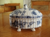 Meissen Spice Box - Very Rare Meissen 18th Century Blue and White Spice Box