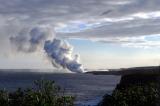 Kalapana lava plume - Kalapana lava plume  five miles from Kalani