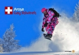 Snowboarder's powder fun - Ski and board some of the most breathtaking mountains in Switzerland.