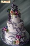 Purple cake ! - beautiful purple cake can make your party more beautiful and Elegant ! more info http://www.bamboobakery.com