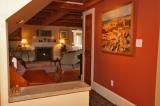 Living Room w/Wood Burning Fireplace