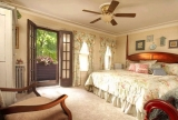 The Webster Room - Main House Deluxe room with private balcony, two person jacuzzi bath and separate tiled shower.
