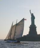 Schooner Adirondack - Schooner Adirondack and the Statue of Liberty