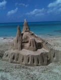 Sand Castle on the Beach - Sunsets are amazing plus we build sandcastles!