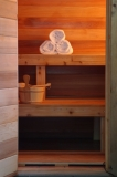 """The Sauna Suite - Relax in the privacy of our Finnish Sauna Suite, cool off in our """"rainwater"""" shower."""