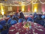 Going to town - With special lighting from an external contractor, a really spectacular effect can be created for your special day.