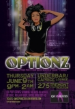 QWOC Optionz Pride Flyer - Flyer for Boston Pride 2011 for the Queer Women of Color organization.