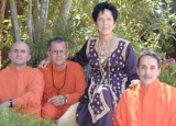 Ma Jaya with her gay Acharyas