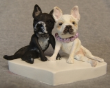 French Bulldog Cake Topper - A custom cake topper based on the couple's pets.