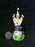 Miniature Cake Ornament - This is a Christmas ornament based on the wedding cake of a couple.  The Quarter gives an idea of scale.
