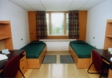Howe Hall - Traditional dormitory style twin room