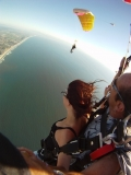 Parachuting over the Ocean near Santa Cruz - Skydive Santa Cruz