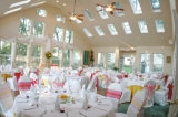 Garden Room Reception - Seating for up to 125 in our light-filled space, overlooking the woodland garden