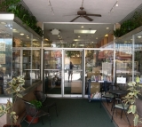 Storefront 3 - The center of our alcove from Main Street, downtown Sarasota.