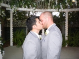 Our First Married Kiss