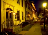"""The Great George at Night - Canadian Historian Pierre Burton once referred to Great George Street as,""""... the most important street in Canada"""".He was referring of course to 1864 when the Fathers of Confederation walked up Great George Street in Charlottetown to Province House, where PEI became known as the Birthplace of Canada."""