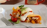 Smoked Chicken Fajita Omelette - One of our many breakfast entrees