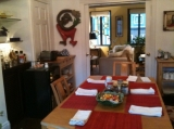 The Dining Room - Where we serve our European continental breakfast in the cooler months