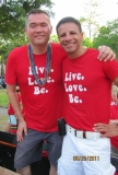 John and Ricardo. - Our domestic partners joined the float too. Thanks for the support and help.