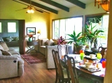Comfortable Elegant Living Room / Dining Room - Very comfortable living room with overstuffed couch, day bed, ceiling fan.   Lots of sunlight and cool tropical breeze.