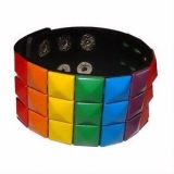 Gay Pride Studded Wrist Band