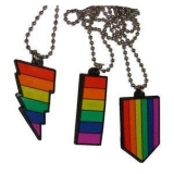 Gay Pride Rubber Pendants