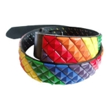 Gay Pride Wide Studded Belt