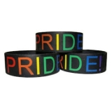 Gay Pride Wide Silicon Bracelet