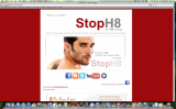 StopH8.co screen shot - Graphics and coding by stevemckinnis.com