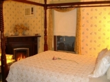 Room 4 - Queen Size canopy bed with Working gas fireplace. Large private bath with tub/combination shower, on the 1st floor.
