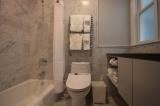 Room 5 Bath - Bathtub, rain shower, electric toilet/bidet, towel warmer.
