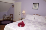Forget-Me-Not Room - This room is cozy and secluded with an east-facing window and features a queen bed. This room may also be expanded into the Forget-Me-Not Suite.<br /><br />Occupants: 2<br />Smoking: No<br /><br />RATES:<br />Summer (May 16-October 31): $159.00<br />Early Winter (November 1-December 31): $139.00<br />Winter (January 1-May 15): $129.00