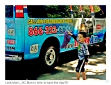 Look Mom...AC Man is here to save the day!!! - Little boy gets excited over AC repair