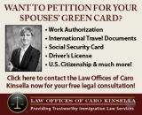 Apply for your husband or wife's green card