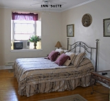 Regular inn room - Queen bed, private bath.