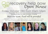 Recovery Help Now Open House - Join us for our Open House, October 18, 2013
