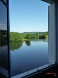 view of lake from bedrooms Red & Lavender