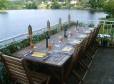 View from terrace where guests have dinner