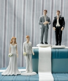 Fashionable Brides and Grooms Cake Toppers from Weddingfavours.ca