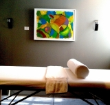Massage Studio with Abstract